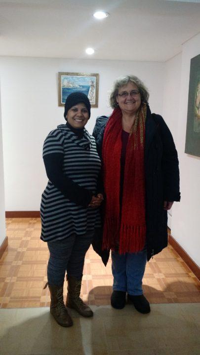 Secretaria Cultura Sra. Yadira Álvarez Varada y Silvana Jarmoluk